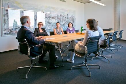 Teammeeting in der Hausverwaltung Berlin - unterwegs im Auftrag der Eigentümer